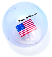 Clear Beach Ball with Logo