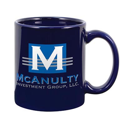 Ceramic Logo Mug Blue