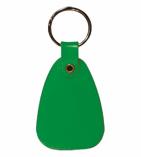 Plastic Saddle Key Tag Green