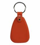 Plastic Saddle Key Tag Red