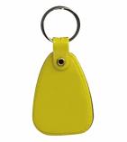Plastic Saddle Key Tag Yellow
