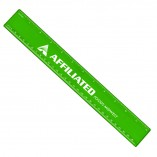 Plastic Ruler with Imprint Green