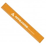 Plastic Ruler with Imprint Orange