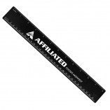 Plastic Ruler with Imprint Recycled Black