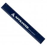 Plastic Ruler with Imprint Recycled Blue