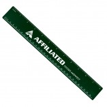 Plastic Ruler with Imprint Recycled Green