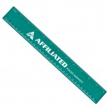 Plastic Ruler with Imprint Teal