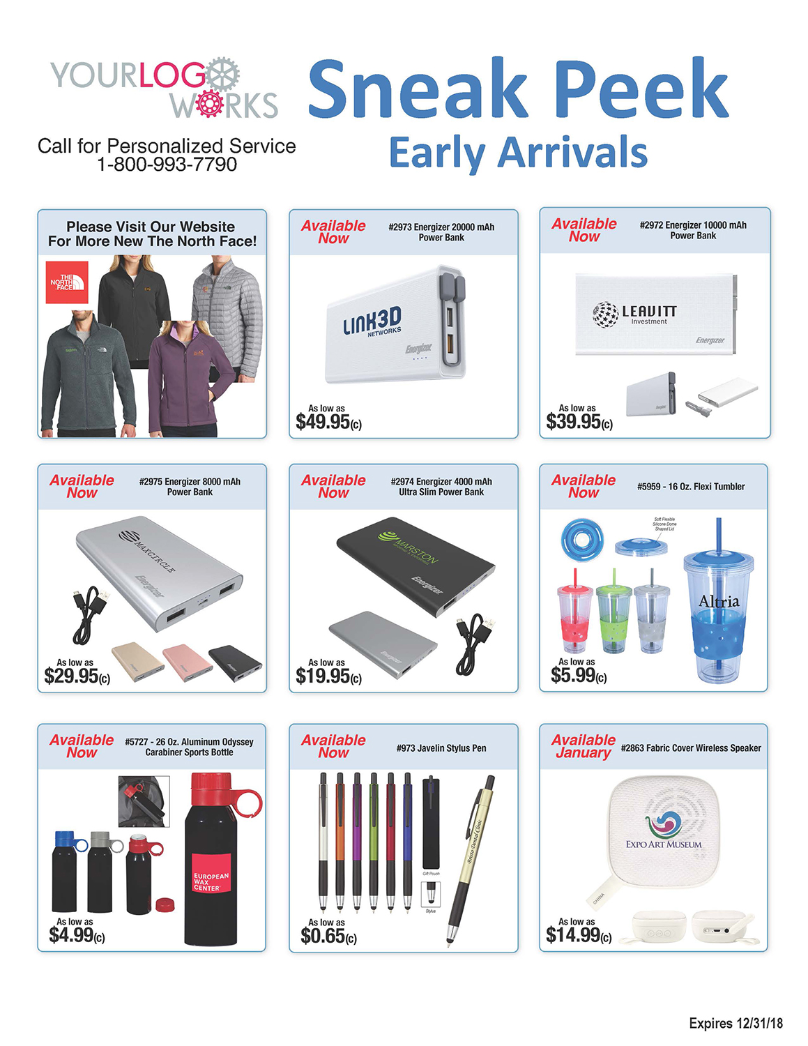 2018 New Arrivals Page 1